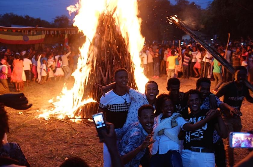 Meskel celebration in Gambella